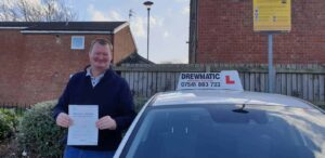 Gary Passed His Automatic Driving Test In Middlesbrough