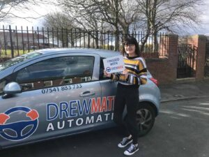 Shania Passed Her Automatic Driving Test Today